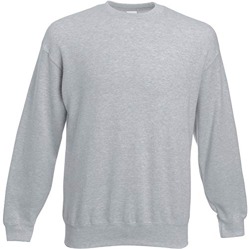 Fruit of the Loom Herren 62-202-0 Sweatshirt, grau meliert, Large
