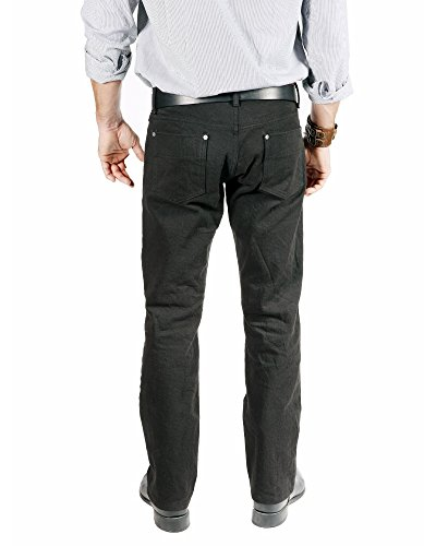 Bullet Blues Comfort Plus Relaxed Fit Straight Leg Black Men's Designer Jeans - Made in USA (38W x 34L)