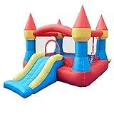Hüpfburg Aufblasbarer Schlosspark für Kinder große Rutschen Trampolin im Freien Spielzeug...