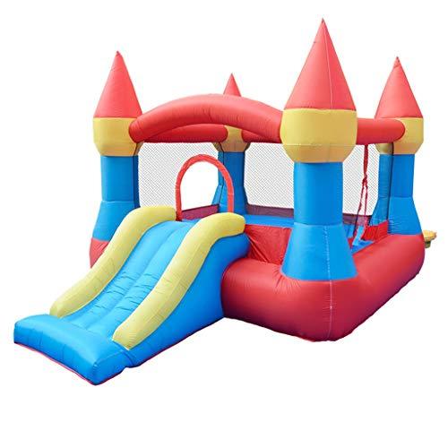 Bouncy Castle - Parque hinchable de castillo para interiores y niños, toboganes grandes, para exteriores, parque de atracciones, apto para 5 ~ 8 personas, Tejido Oxford, Color, 265*190*170CM
