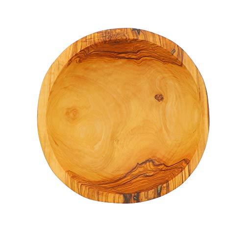 Hofmeister Holzwaren - Ciotola in legno d'ulivo, 18,5 x 18,5 x 7,5 cm