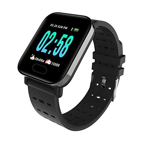 LYB For Y9 Plus Pulsera Deportiva Rate Cardíaco Fitness Pedómetro Presión Arterial Pulsera De Reloj Inteligente (Color : Black)