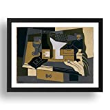 Period Prints - Molinillo de café por Juan Gris, 1920, arte vintage, reproducción A3 en marco negro de 17x13 (A3)