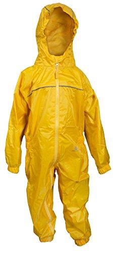 Dry Kids Regenanzug für Kinder - Gelb 9/10 Jahre