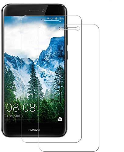WISMURHI [2 Pezzi Vetro Temperato per Huawei P8 Lite 2017, Pellicola Vetro per Huawei P8 Lite 2017 [Anti-Graffio/Olio] [Senza Bolle] [3D Touch] [9H Durezza] Huawei P8 Lite 2017 Pellicola Protettiva