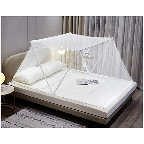 Meet World Faltbares Bodenloses Moskitonetz, Tragbares Moskitonetz, Einfaches Camping, Erwachsenenbett/Babybett/Sofa/Freie Installation Eines Outdoor-Insektennetzes,4,100*190*80cm