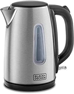 Black+Decker JC450-B5 1.7 Litre Concealed Coil Stainless Steel Kettle - Silver -