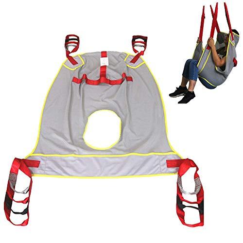 CLX Lifting Machine Patientenlifter Sling Treppenrutsche Transfergurt,Aus Netzgewebe Mit Toilettenschlinge Für Bariatrie,Krankenpflege,Ältere Menschen,Behinderte,Grau