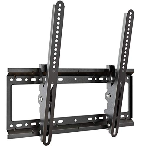 SHIJINHAO Tilt TV Wall Mount Bracket For Most 32-65 Inch Flat And Curved LED, LCD, OLED, Plasma TVs Up To VESA 400x400mm And 45kg (Color : Black, Size : 48x20cm)