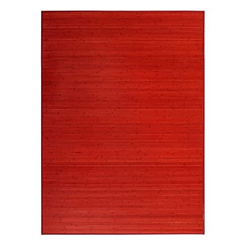 Alfombra de Salón o Comedor, Roja de Bambú Natural 180 X 250cm Natur, 180x250 - Hogar y Más