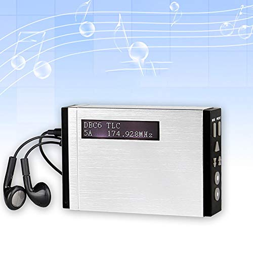 Voigoo FM RDS Radio Pocket Digital DAB Receiver Portable DAB+/DAB Radio Receiver+ with Earphone T101 F9204D