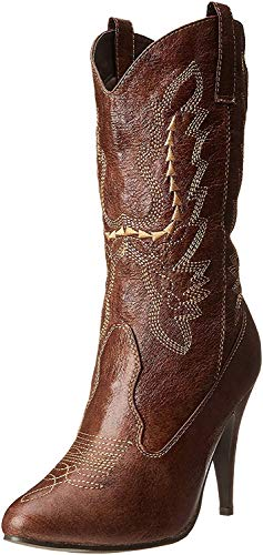 Ellie Shoes Women's 418-cowgirl, Brown, 6 M US