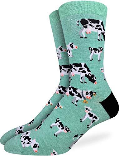 NA Calcetines de vacas en un campo para hombre - Verde, talla...