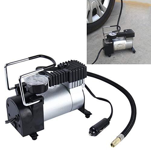 Pompa d'aria portatile for CMF compressore d'aria con manometro e adattatori Tre ugelli, Portable cilindro di metallo gonfiatore compressore for automobili veicoli materassino gonfiabile Balls 150 PSI