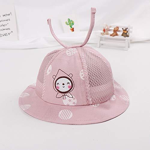mlpnko Cartoon Puppe Kinder Net Hut Kinder Sonnenhut Kinder Hut New Baby Basin Hut Flut Fischer Hut Chihuahua Net Cap - Light Purple 48cm Fit