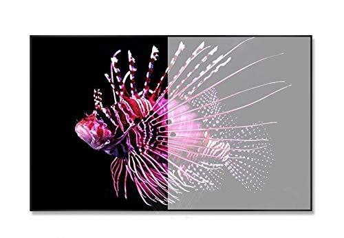 FGVBC 16: 9HDTV Pantalla de Marco Fijo Ultrafina ALR de Tercera generación más Nueva para proyector UST (tamaño: 150 Pulgadas)