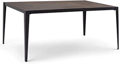 ffa1f45629d4 Simpli Home AXCBENDT Bentley and Metal 66 inch x 39 inch Rectangle  Contemporary Industrial Dining Table