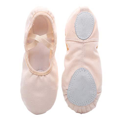 Healifty 1 par de Zapatos de Ballet de Lona Zapatillas de Ballet de Suela Completa Zapatos de Yoga para Bailar para Niños Pequeños Niñas Niñas Talla 34