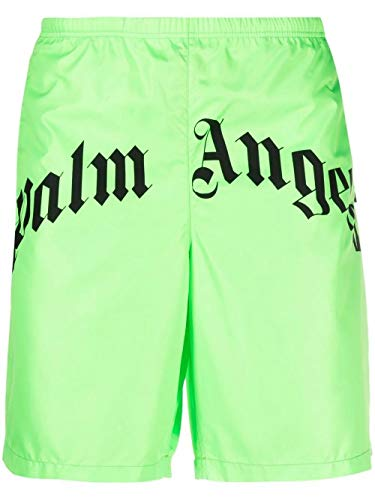 PALM ANGELS Luxury Fashion Herren PMFA005S21FAB0037010 Grün Polyester Badeboxer | Jahreszeit Permanent