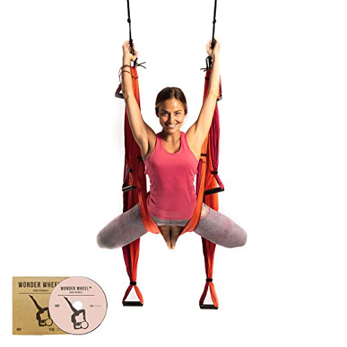 YOGABODY Yoga Trapeze [official] – Yoga Swing/Sling/Inversion Tool, Orange with Free DVD