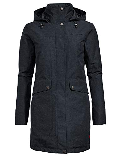 VAUDE Damen Limford Coat, Mantel Jacke, phantom black, 44 (XL)