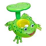 Hangarone Baby Pool Float Spielzeug, Cartoon Aufblasbares Boot Frosch Ponton Aufblasbare Wasser Schwimmring Liegen Sommer Outdoor Pool Spielzeug für 1-5 Jahre alte Kinder