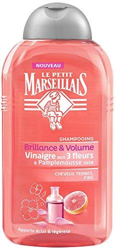 Le Petit Marseillais Haar-Shampoo / Essig mit 3 Blumen & Pamplemousse Rosa Flakon 250 ml – 1 Stück