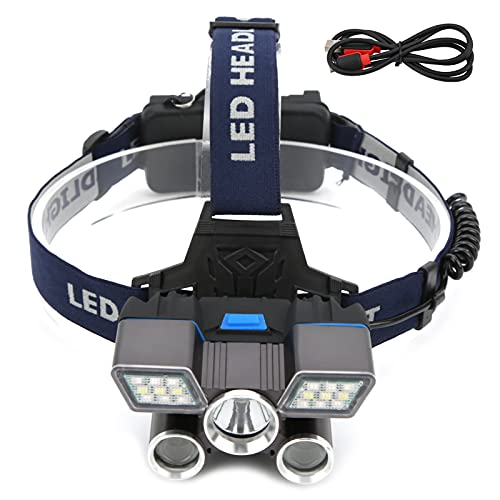 YIHEXUANkeji Faro al aire libre llevado faro USB recargable diadema ajustable luz camping diadema luz para camping