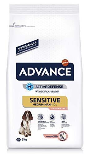 ADVANCE Sensitive - Pienso para Perros Medium-Maxi Adult con Salmón y Arroz - 3Kg