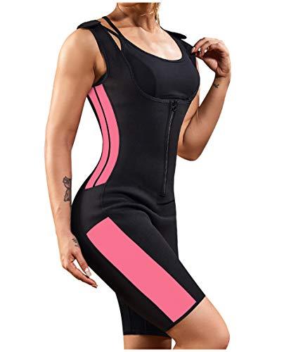 Gotoly Waist Trainer Hot Vest Sauna Sweat Suit Tummy Control Full Body Shaper Black Large