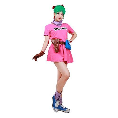 miccostumes Women's Bulma Cosplay Costume (Women m) Pink