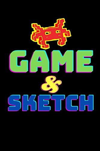 Game & Sketch Sketchbook: 6 x 9 100 Blank Page Sketchbook for Sketching Drawing Notes