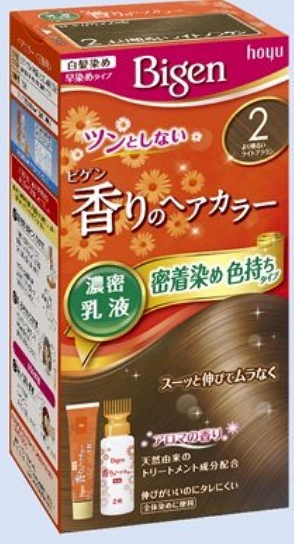 異常忘れられないこんにちはビゲン 香りのヘアカラー 乳液 2 より明るいライトブラウン × 27個セット
