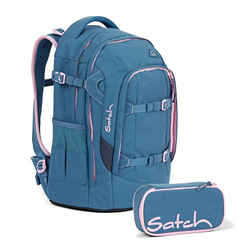 Satch Pack Deep Rose Schulrucksack Set 2tlg.