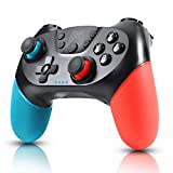 Zexrow Controller per Nintendo Switch, Wireless Bluetooth Switch Pro Controller, Switch Joystick Gamepad con Turbo Regolabile Dual Shock Gyro Axi