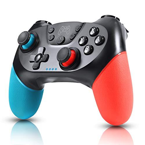 Zexrow Controller für Nintendo Switch, Bluetooth Wireless Pro Controller für Nintendo Switch/Switch Lite mit mit Vibration und Turbo Funktion Achse Sensor