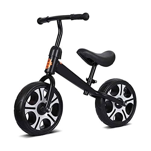 YQCH Bicicleta de Balance sin Pedal, Bicicleta para niños pequeños, Bicicleta de Entrenamiento para Caminar, con Manillar Ajustable y Asiento. (Color : Black)