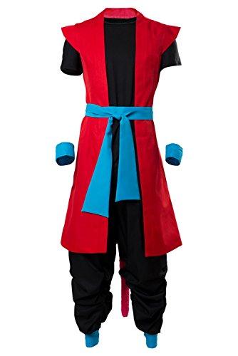 Karnestore Son Goku Zeno Outfit Super Dragon Ball Heroes: Universe Mission Cosplay Kostüm Herren XXXL