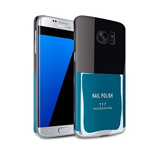 Telefoon Matte Case voor Samsung Galaxy S7 Edge/G935 Nagellak/Make Up Blauw Ontwerp Matt Harde Snap On Cover