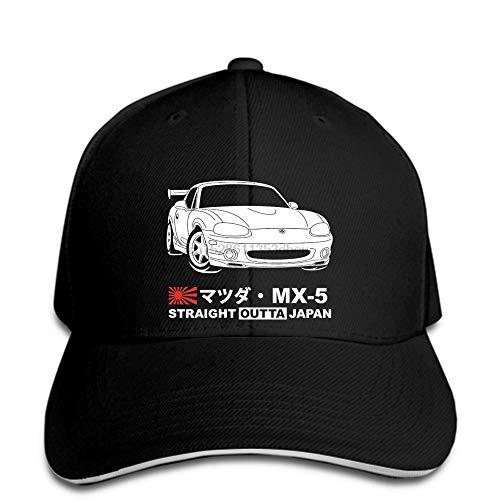PRWJH Snapback Sun Baseball Caps Baseball Cap Mazda MX 5 Miata NB1 Baseball Cap Tee Snapback Hat Schirmmütze