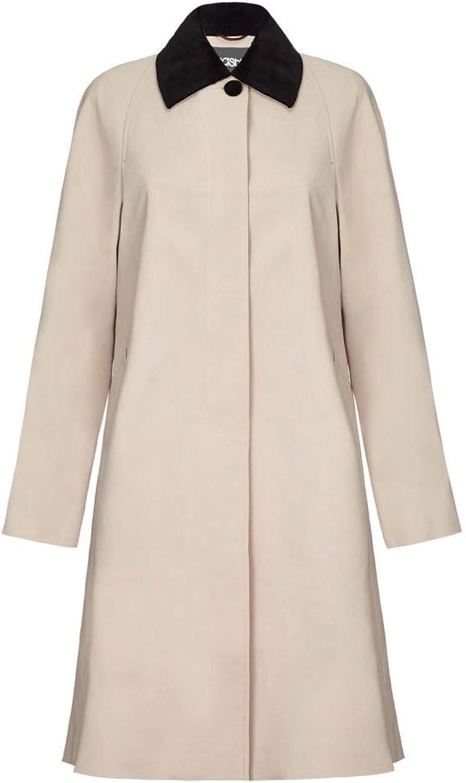 De La Creme  Womens Swing Raincoat Velvet Collar