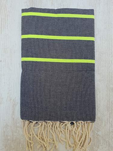Miktex Ibiza FOUTA, Hochwertiges FOUTA Handtuch - Größe XL 170x130 cm - 100prozent Baumwolle - 380 Gramm - Weich, glatt, leicht & sehr saugfähig - Strandtuch, Sofabezug, Tischdecke, Tagesdecke, Sarong