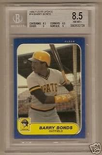 1986 Fleer Update Barry Bonds Rookie Bgs 8.5 Nice