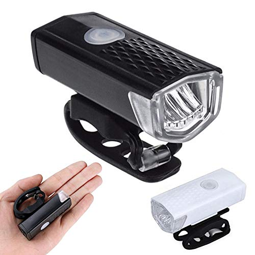 MOZUN Bicycle Front Light Usb Rechargeable Super Bright Lighting, Riding Equipment, Waterproof Bicycle Tail Light Kit, Bicycle Light Front and Rear Rechargeable Bicycle Front Light, Bicycle Flashlight