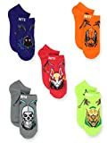 Fortnite Battle Royale Gamer Boy Girl Teen Adult 5 Pack No Show Socks (9-11, Red)