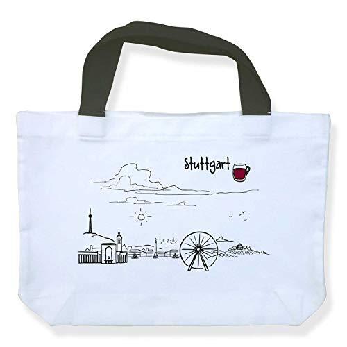Einkaufstasche Skyline Stuttgart - als Geschenk für Suttgarter & Fans der Schwabenmetropole oder als Stuttgart Souvenir - die stadtmeister