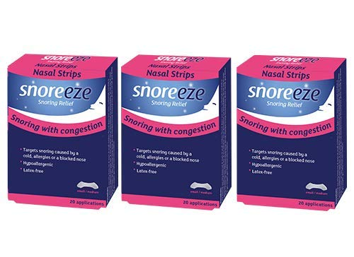 Triple Pack- Snoreeze Snoring Relief Nasal Strips Small/Medium