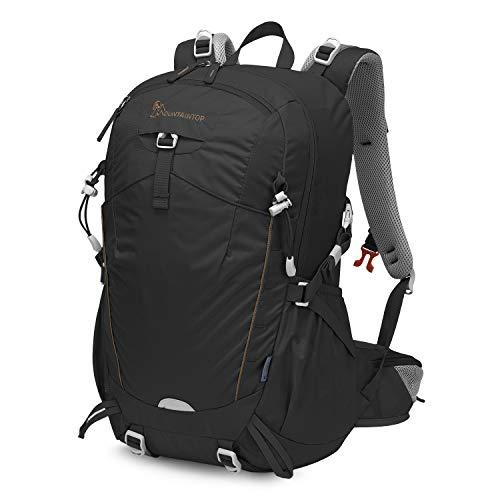 MOUNTAINTOP Wanderrucksack mit Regenschutz, Unisex, 35 l, Schwarz
