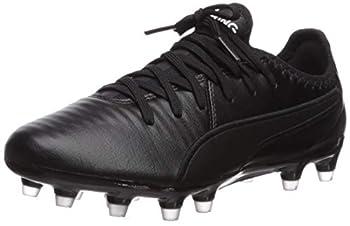 PUMA unisex adult King Pro Fg Sneaker Black/White 10 US