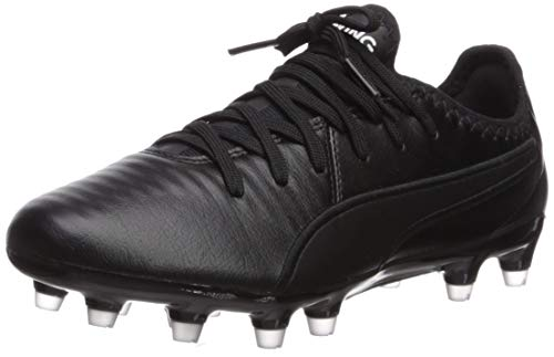 PUMA King PRO FG Sneaker, Black White, 7 M US